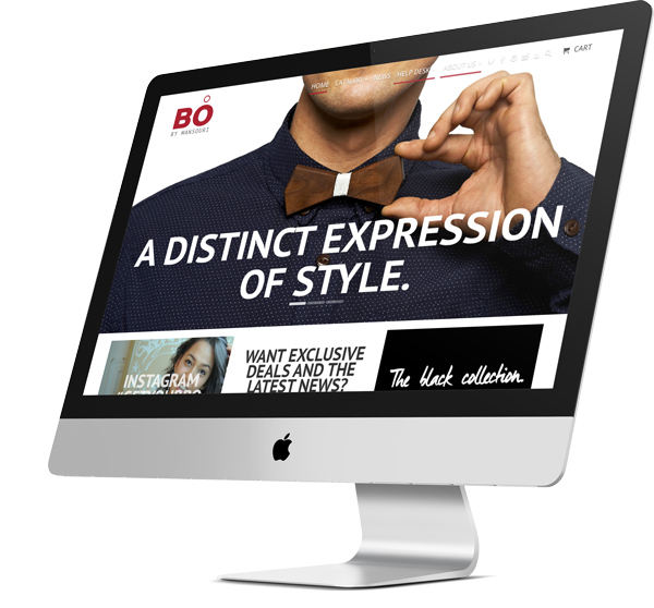 Screenshot of Bo apparel website - ecommerce and SEO project